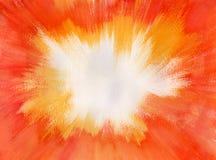 акварель померанца взрыва Стоковое Фото