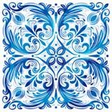 Акварель португалки Azulejo Стоковые Изображения