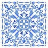 Акварель португалки Azulejos Стоковая Фотография