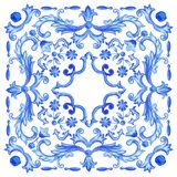 Акварель португалки Azulejos Стоковые Фотографии RF