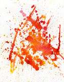 акварель пятна предпосылки красная Стоковая Фотография
