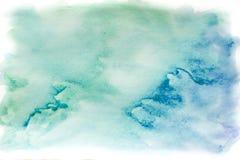 Акварель, синь и зеленый цвет предпосылки абстрактным текстура графиков предпосылки произведенная компьютером Стоковые Изображения RF