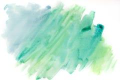 Акварель, синь и зеленый цвет предпосылки абстрактным текстура графиков предпосылки произведенная компьютером Стоковая Фотография RF
