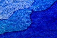 акварель текстуры абстрактной предпосылки голубая покрашенная бумажная стоковое изображение