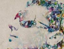 акварель человека усадьбы Стоковые Фото