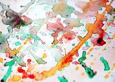 Акварель deacaying абстрактная красочная предпосылка, абстрактная красочная текстура Стоковое Изображение
