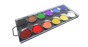 акварель paintbox Стоковая Фотография