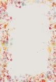 акварель splatter страницы граници Стоковая Фотография RF