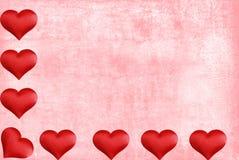 акварель valentines бумаги сердца граници Стоковые Изображения