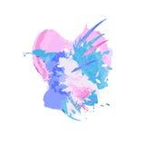 акварель абстрактной предпосылки цветастая Пятна и брызгают Стоковое Изображение