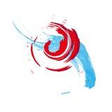 акварель абстрактной предпосылки цветастая Пятна и брызгают Стоковые Фото