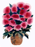 Акварель, картина, букет, цветки иллюстрация вектора