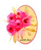 Акварель картины цветков Стоковые Изображения