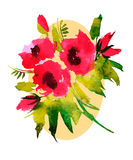 Акварель картины цветков Стоковое Изображение RF