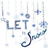Акварель позволила ей идти снег Стоковые Фотографии RF