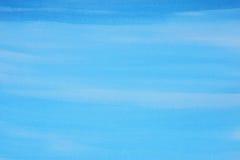 акварель текстуры абстрактной предпосылки голубая покрашенная бумажная Стоковые Изображения
