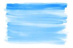 акварель текстуры абстрактной предпосылки голубая покрашенная бумажная Стоковые Фотографии RF