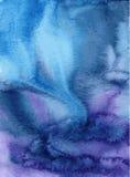 акварель текстуры абстрактной предпосылки голубая покрашенная бумажная Стоковое Изображение RF