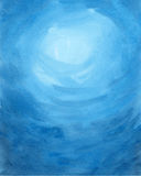 акварель текстуры абстрактной предпосылки голубая покрашенная бумажная Стоковые Изображения RF