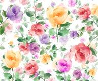 Акварель цветет безшовная картина предпосылки