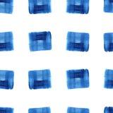 Акварель цветет картина прямоугольников Стоковое Изображение RF