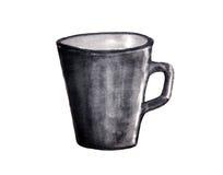 Акварель чашки, акварель эскиза Стоковые Фото