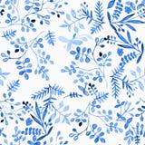 Акварель для дизайна цветка Орнамент для silk ткани Painti бесплатная иллюстрация