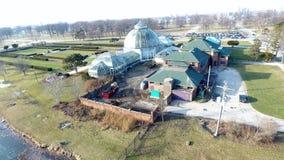 Аквариум и консерватория острова красавицы--Детройт Стоковое Фото