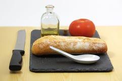 Аккуратный взгляд еды на плите для еды Стоковое Изображение RF