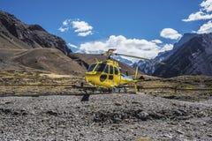 Аконкагуа, в горах Анд в Mendoza, Аргентина стоковые изображения rf