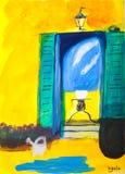 акриловая дом среднеземноморская Стоковые Изображения RF