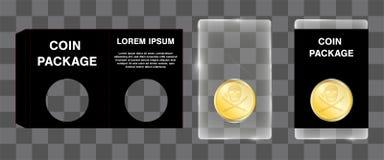 Акриловая монетка упаковывая с умирает дизайн блока отрезка бумажный Стоковое фото RF