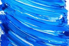 Акриловая предпосылка от голубых brushstrokes стоковая фотография rf