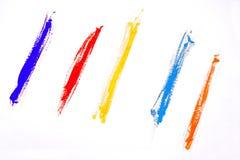 Акриловые прокладки цвета стоковое фото