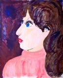 акриловые womans портрета картины Стоковая Фотография RF