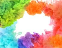 Акриловые цвета в воде. стоковое изображение rf