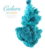Акриловые цвета и чернила в воде абстрактная предпосылка стоковые изображения rf