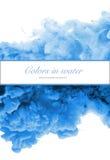 Акриловые цвета и чернила в воде абстрактная рамка предпосылки Стоковые Фото