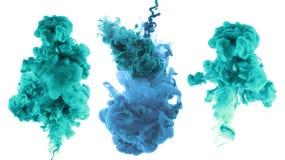 Акриловые цвета и чернила в воде стоковая фотография