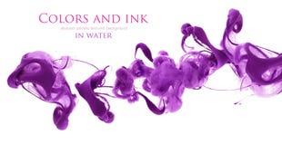 Акриловые цветы в воде абстрактная предпосылка стоковая фотография rf