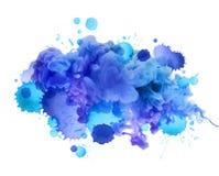 Акриловые цветы в воде абстрактная предпосылка стоковое изображение