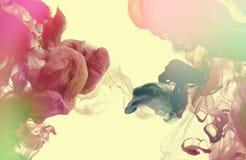 Акриловые цветы в воде абстрактная предпосылка стоковое изображение rf