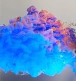 Акриловые цветы в воде абстрактная предпосылка Стоковые Фотографии RF