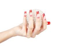 Акриловый маникюр ногтей стоковые изображения