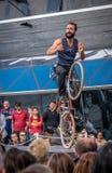Акробатика велосипеда Стоковое Изображение