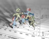 Акробаты евро стоковое фото rf
