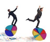 Акробаты финансов и экономики Стоковое фото RF