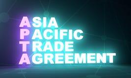 Акроним торгового соглашения Asia Pacific бесплатная иллюстрация