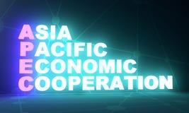 Акроним экономического сотрудничества Asia Pacific иллюстрация штока