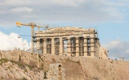 Акрополь, Афины, Греция - 24-ое октября 2017: Много туристов от Стоковая Фотография RF
